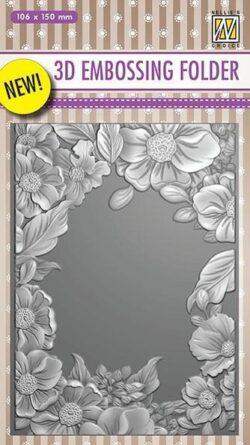 NS 3D Embossingfolder – Flower Frame