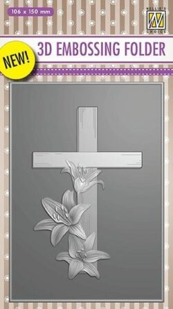 NS 3D Embossingfolder – Cross with lilies
