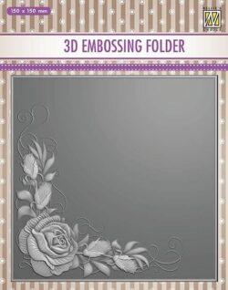NS 3D Embossingfolder – Rose Corner
