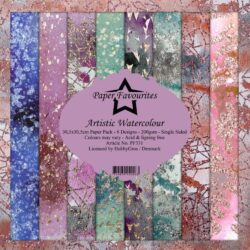 Paper Favourites Paper Pack – 30,5×30,5 cm – Artistic Watercolour