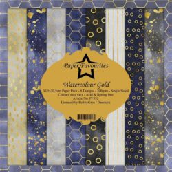 Paper Favourites Paper Pack – 30,5×30,5 cm – Watercolour Gold