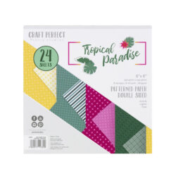 Craft Perfect – Tropical paradise (mønsterpapir) – 24 ark 15,24 x 15,24 cm