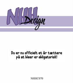 NHH Design Stempel – Du er nu officielt