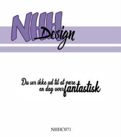 NHH Design Stempel – Du ser ikke ud til at være