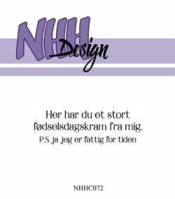 NHH Design Stempel – Her har du