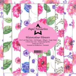 Paper Favourites Paper Pack – 15×15 cm – Watercolour Flowers