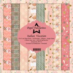 Paper Favourites Paper Pack – 15×15 cm – Italian Vacation
