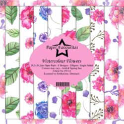 Paper Favourites Paper Pack – 30,5×30,5 cm – Watercolour Flowers