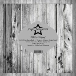 Paper Favourites – Paperpad – 30,5×30,5 cm – White Wood