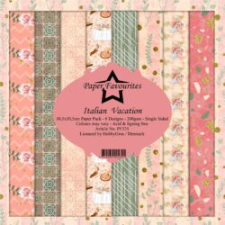 Paper Favourites Paper Pack – 30,5×30,5 cm – Italian Vacation