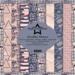 Paper Favourites Paper Pack – 30,5×30,5 cm – Navyblue Abstract