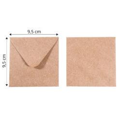 Kuvert 9,5×9,5 Kraft