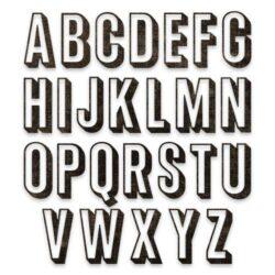 Sizzix/Tim Holtz Die – Alphanumeric Shadow Upper
