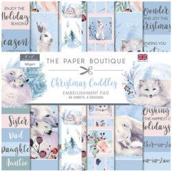 The Paper Boutique – Embellishments Pad – 20,32 x 20,32 cm – Christmas Cuddles