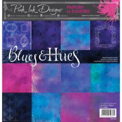 Pink ink –  Paperpad – 20,32 x 20,32 cm – Blues & hues