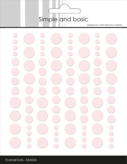 Simple and Basic Enamel Dots – Baby rød