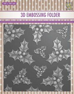NS 3D Embossingfolder – Holly Leaves & Berries