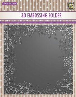 NS 3D Embossingfolder – Snowflake Frame