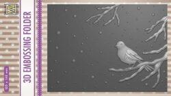 NS 3D Embossingfolder – Bird on Branch