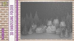 NS 3D Embossingfolder – Snowy Village