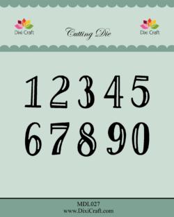 DIXI CRAFT DIE – Numbers