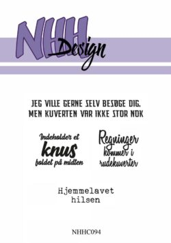 NHH Design Stempel – Kuvert tekster