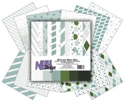 NHH – Paperpad – 15 x 15 cm – All in one – Dusty Blue