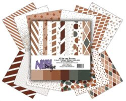 NHH – Paperpad – 15 x 15 cm – All in one – Brown