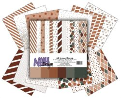 NHH – Paperpad – 30,5 x 30,5 cm – All in one – Brown
