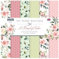 The Paper Boutique – Paper Pad – 20,3×20,3 – A Bouquet Of Sunshine