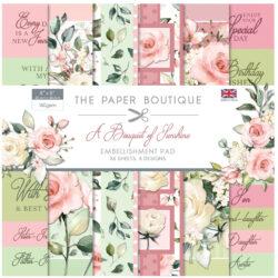 The Paper Boutique – Embellishments Pad – 20,3×20,3 – A Bouquet Of Sunshine