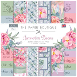 The Paper Boutique – Embellishments Pad – 20,3×20,3 – Summertime Blooms