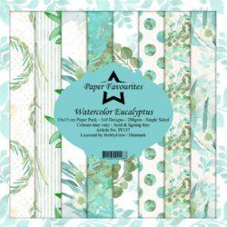 Paper Favourites – Paperpad – 15×15 cm – Watercolor Eucalyptus
