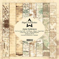 Paper Favourites – Paperpad – 15×15 cm – Sepia Ephemera