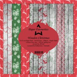 Paper Favourites – Paperpad – 15×15 cm – Wooden Christmas