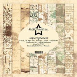 Paper Favourites – Paperpad – 30,5×30,5 cm – Sepia Ephemera