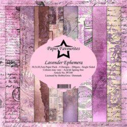 Paper Favourites – Paperpad – 30,5×30,5 cm – Lavender Ephemera