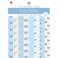 The Paper Boutique – Backing papers – A4 – Seasons Greetings