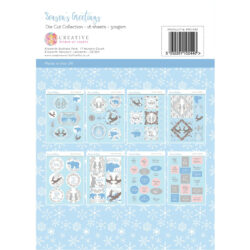 The Paper Boutique – Die Cut Sheets – A4 – Seasons Greetings