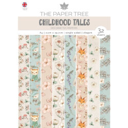 The Paper Boutique – Backing Papers – A4 – Childhood Tales