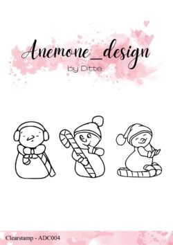 Anemone Design Stempel – Candy Snowmen