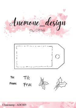 Anemone Design Stempel – Gift Tag