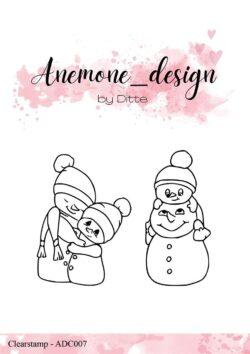 Anemone Design Stempel – The Snowman Family
