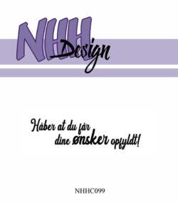 NHH Design Stempel – Håber du får dit ønske opfyldt