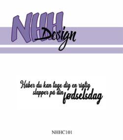 NHH Design Stempel – Håber du kan tage dig