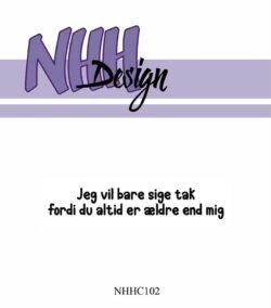 NHH Design Stempel – Jeg vil bare sige tak
