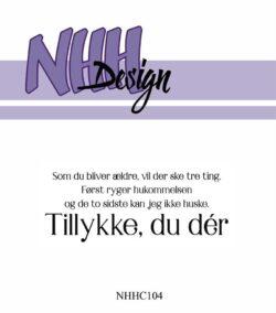 NHH Design Stempel – Tillykke, du dér