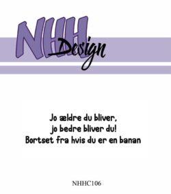 NHH Design Stempel – Jo ældre du bliver