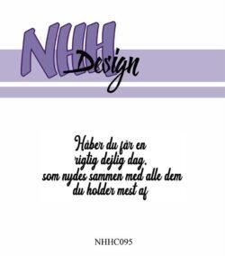 NHH Design Stempel – Håber du får en rigtig dejlig dag