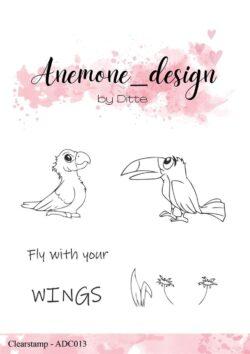 Anemone Design Stempel – Parrot
